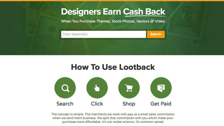 Lootback: Get Cash Back on Stock Files - http://mocco.sk/lootback-get-cash-back-on-stock-files/
