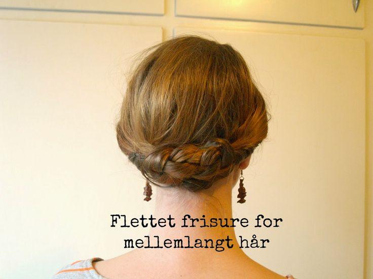 MTOTFLS: Flettet frisure for mellemlangt hår