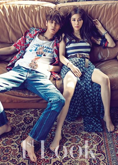 Tiffany and Lee Chul Woo Are Boldly Beautiful in Couple Pictorial for 1st Look