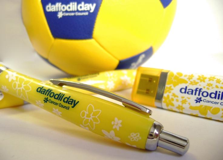 #DaffodilDay #Pen, #USB stick + mini #Football. Produced by IMI.