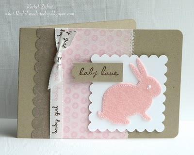 felt bunny card