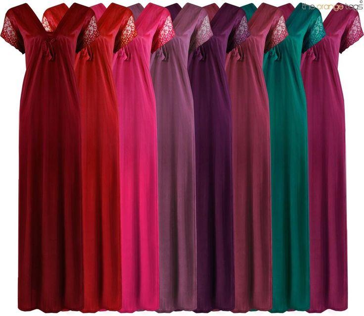 WOMENS PLUS SIZE NIGHTIE LONG NIGHTDRESS SHORT SLEEVE LADIES NIGHTY 18 20 22 in Clothes, Shoes & Accessories, Women's Clothing, Lingerie & Nightwear | eBay