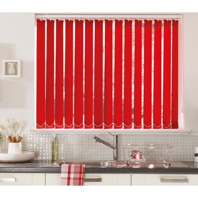 Red blinds with matching accessories are perfect for action stations such as kitchens. #interiordesign #kitchens