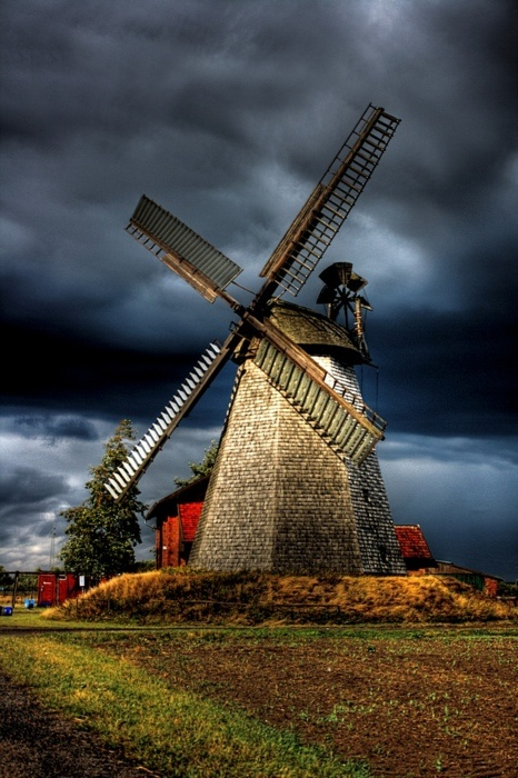 Windmill in Bierde by Daniel Mennerich: Country Scene, Old Windmills, Daniel Mennerich, Beautiful Places, The Netherlands, Dutch Windmills, Windmills Molino, Places Photography, Beautiful Pictures