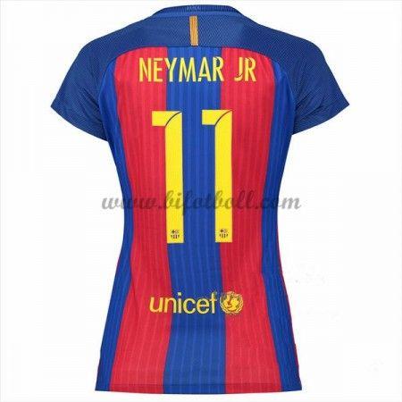 Fotbollströjor På Nätet Barcelona Dam 2016-17 Neymar Jr 11 Kortärmad Hemma Fotbollströjor