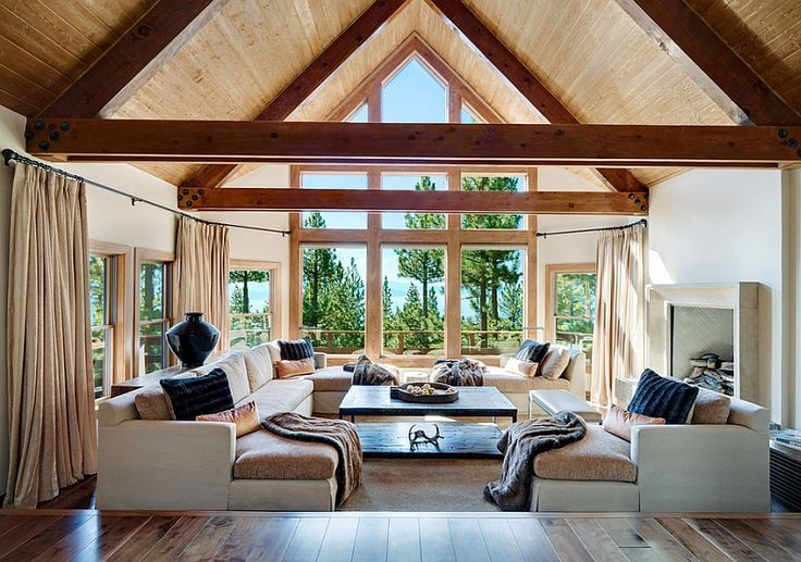 20 Lavish Living Room Designs With Vaulted Ceilings | Sunken Living Room,  Living Rooms And Living Spaces
