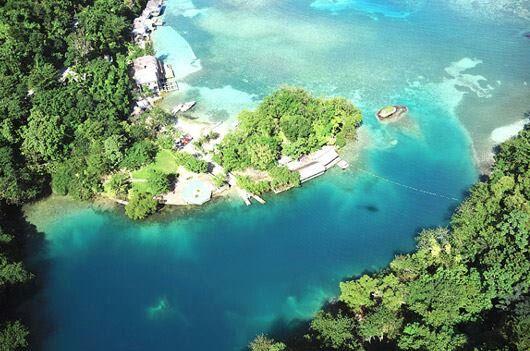 Blue lagoon Port Antonio Jamaica.