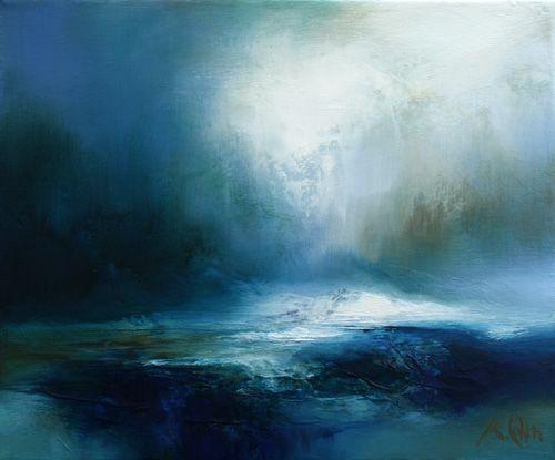 """Snow cloud"" by Kirstie Cohen - Oil on canvas"