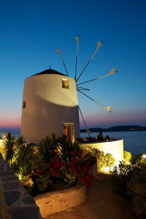 Been here to the windmill bar in Paros a very special place to watch the beautiful Sunset from.