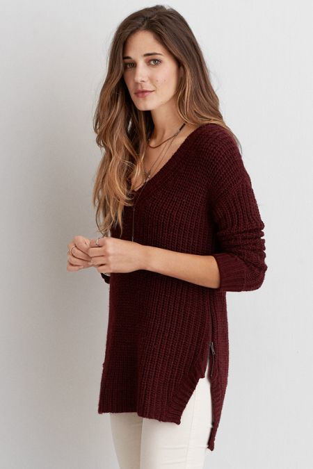 American Eagle Outfitters. Lovely Side Zip Sweater