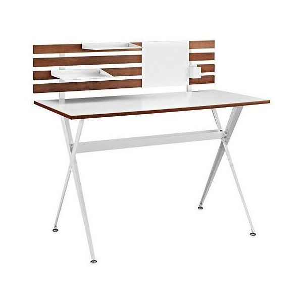 Knack Cherry and White Office Desk (320 CAD) ❤ liked on Polyvore featuring home, furniture, desks, cherry wood furniture, cherrywood furniture, storage furniture, cherry desk and white storage furniture