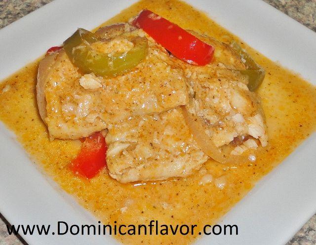Fish in Coconut Sauce (Dominican style)/Pescado con Coco Dominicano