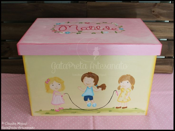 """Caixa de arrumação de dossiers e brinquedos """"Jardim Infantil""""."""