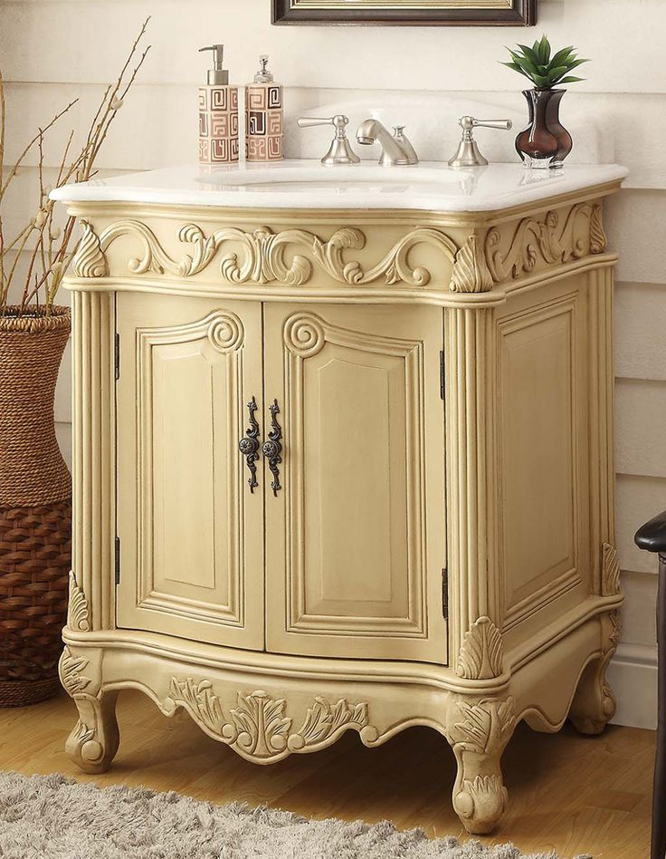 adelina 27 inch antique bathroom vanity - Antique Bathroom Vanity