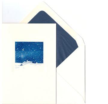 Nachstadt / Blue Night in town | Weihnachtskarte / Christmas Card | Artikelnummer: posthumus12