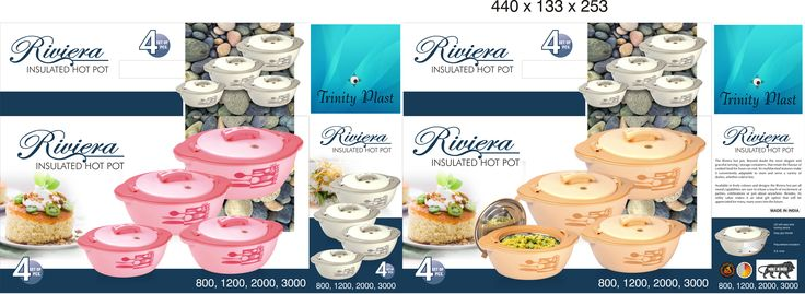 #TrinityPlast #Riviera #4Pcs #Plastic #Traders #Manufacturers #insulated #hotpot #supplier