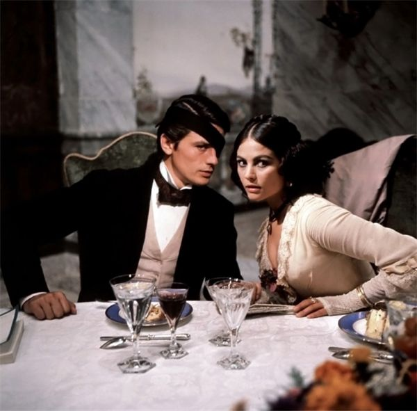These two were so pretty it almost hurt to look at them. Alain Delon and Claudia Cardinale