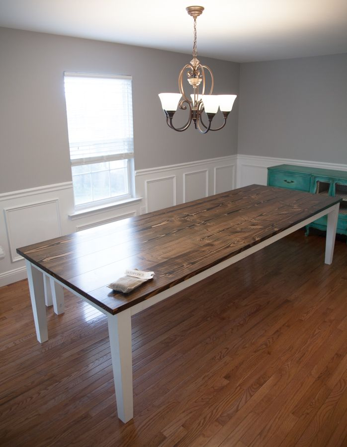 Farmhouse Table 10 extra wide solid wood farmhouse table with tapered l