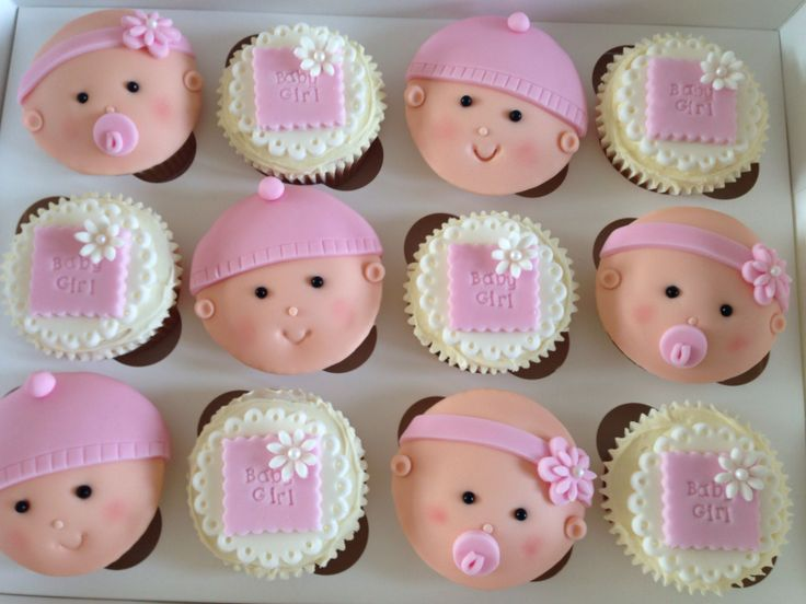 17 best ideas about baby girl cupcakes on pinterest baby shower cupcakes baby cupcake and - Girl baby shower cupcake ideas ...