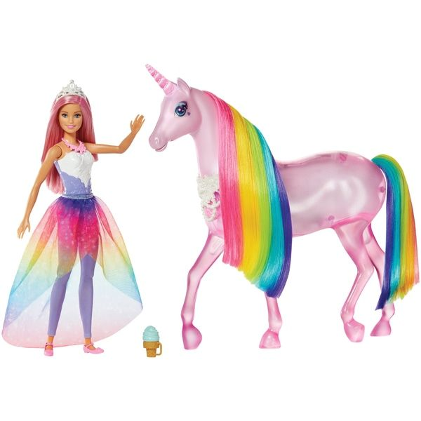 Superb Barbie Dreamtopia Magical Lights Unicorn Now At Smyths Toys Uk Buy Online Or Collect At Your Local Smyths S Unicorn Barbie Barbie Gifts Barbie Princess