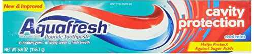 #Aquafresh is a fluoride toothpaste with triple #protection. Cleans with calcium (Contains calcium carbonate to help clean teeth.). Clinically proven to fight cav...