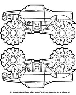 free down loads free monster trucks coloring pictures and boys truck coloring pages - Monster Truck Coloring Pages Easy