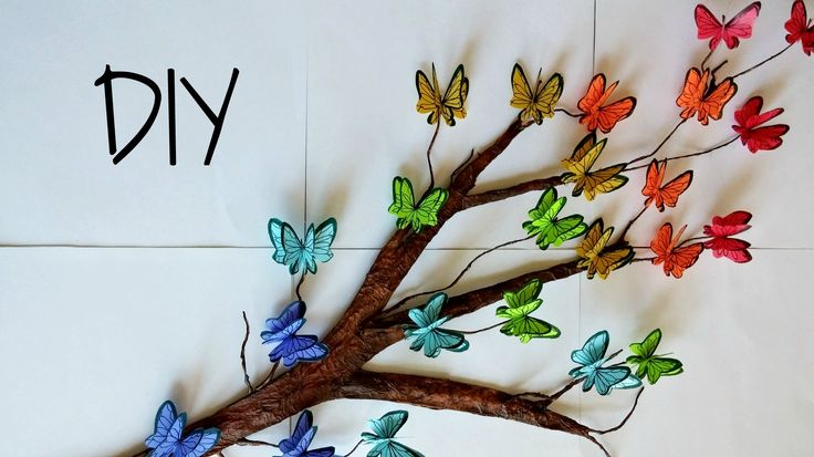 DIY Tree Branch + 3D Butterflies ♥ // Room Decor