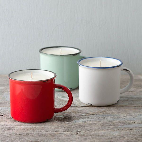 Stocking Stuffer: Candle-In-A-Mug Looks, Smells Like Hot Apple Cider - DesignTAXI.com