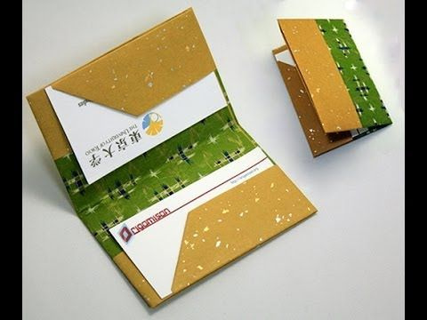 """EN: Origami Bussiness Card Holdercan be a nice """"diy"""" gift for Fathers Day or you can use it for your own :) TR: Origami Kartvizit"""