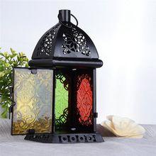 Nova Decoração Do Casamento Do Vintage de Metal Oco Castiçal Artigos Branco Moroccon lanternas Europeu Castiçal Lanterna de Suspensão(China (Mainland))