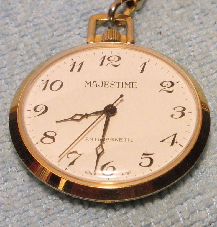 Vintage Majestime Mechanical Pocket Watch