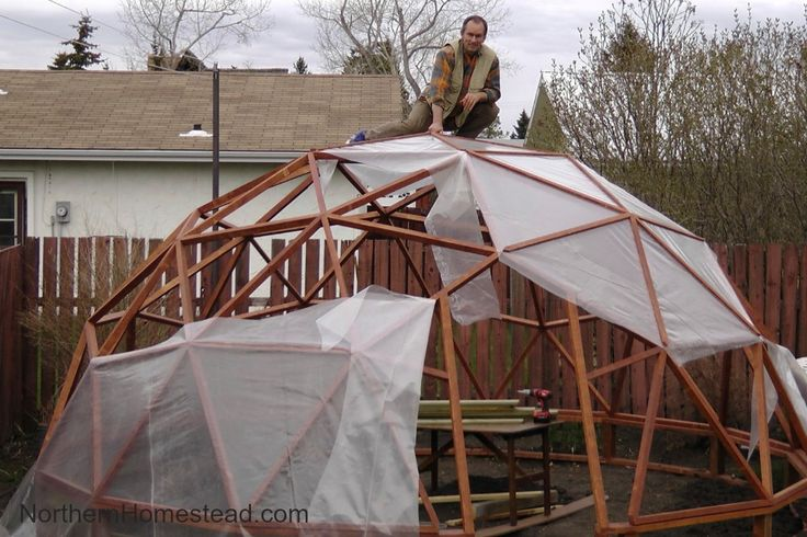 How to build a geodome greenhouse homesteads gardens for Geodesic greenhouse plans free