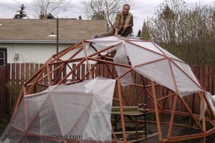 How To Build A Geodome Greenhouse Теплица Огород и Дом