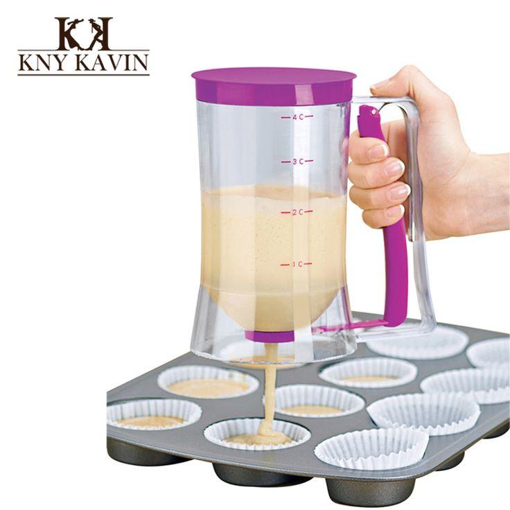 New Baking Cake Batter Cream Dispenser Essentials  Dough Cupcake Batter Dispensers For Baking Cupcakes Muffins Cakes  HK857
