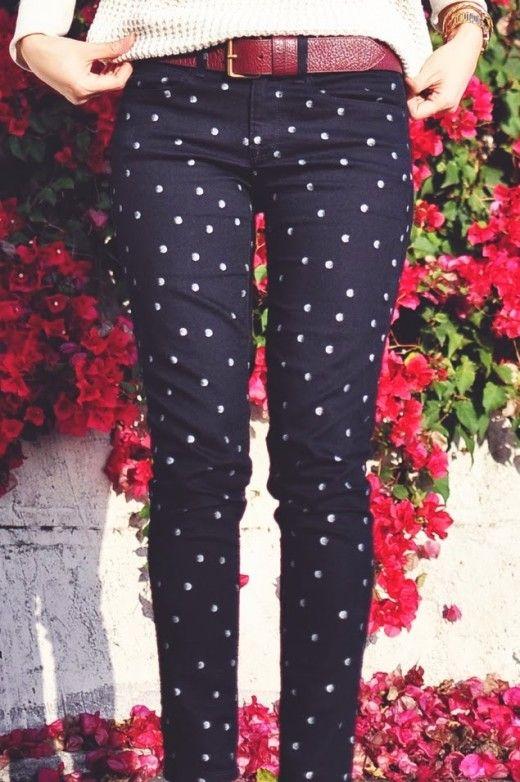 Polka Dots Skinny Jeans