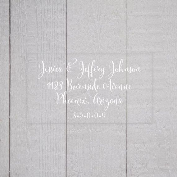 Wedding Invitation Return Address Labels, Clear Wedding Stickers, Transparent Return address stickers for invitations (#339)