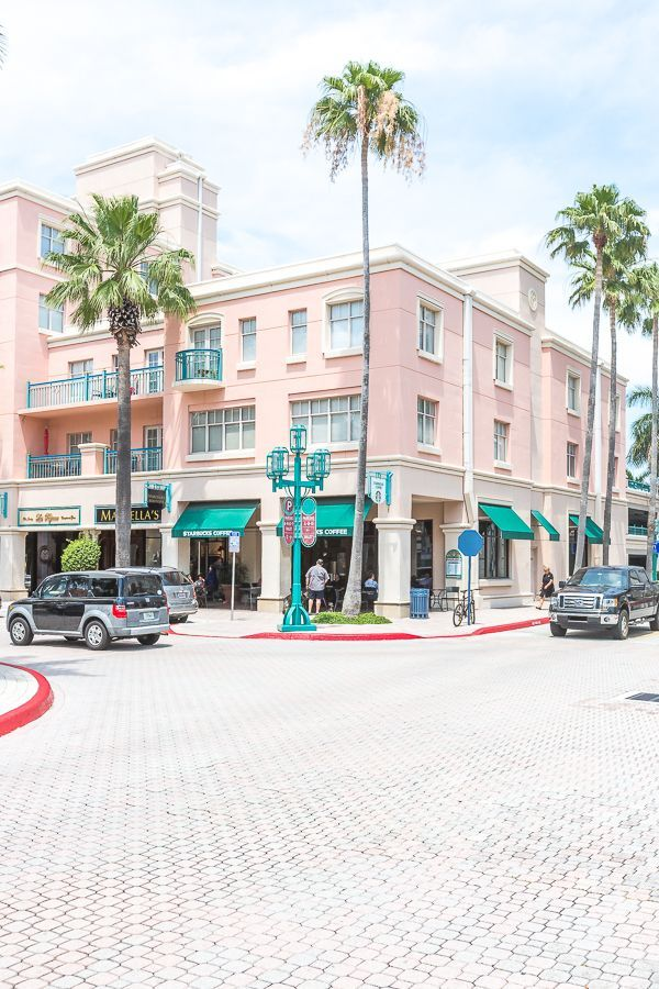 Shopping at Mizner Park in Boca Raton, Florida.
