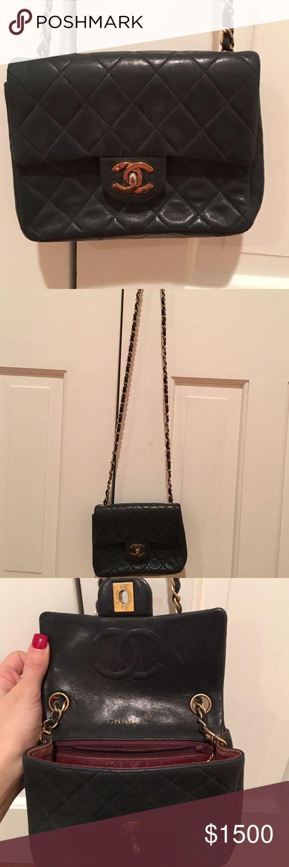 Chanel handbag superb vintage chanel bag vintage leather - Vintage Chanel Cross Body Flap Bag Gently Used Vintage Chanel Mini Cross Body Flap Bag