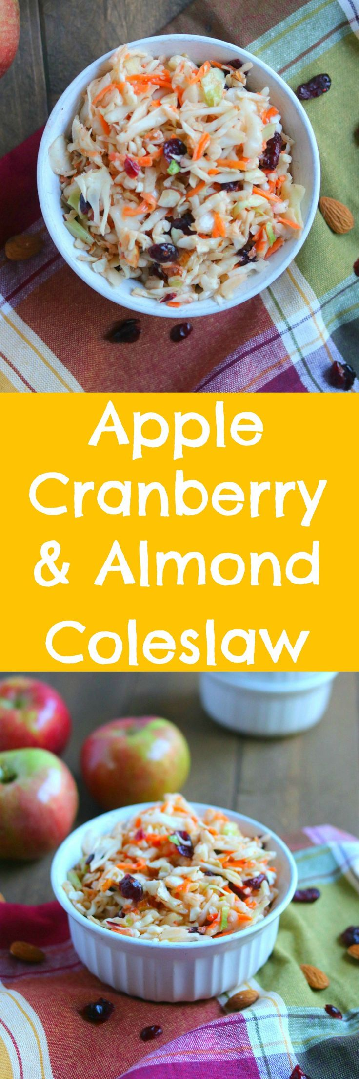 Apple Cranberry & Almond Coleslaw | Recipe | Almonds, Cranberries and ...