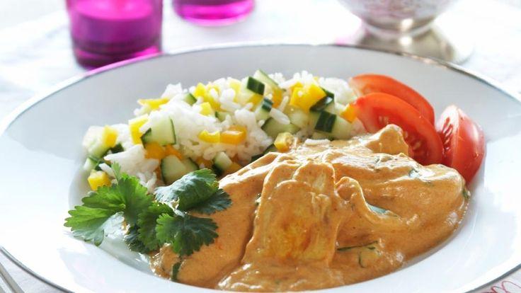 Oppskrift på Kylling curry
