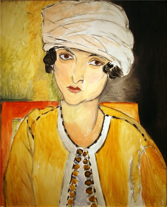 Pal Szinyei Merse - The Artists Wife Dressed in Yellow