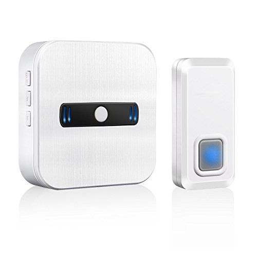 MwaBaiTx Wireless Doorbell Waterproof Operating at Over 600 Feet Remote Control Range and Over 50 Chimes and Doorbells Kit Set with Five Levels Ring Volume for Home and Kids Easily Installation  Wireless doorbell come from MwaBaiTx original model, Modern and stylish design in white color  Wireless doorbell operating at over 600-feet remote control range, in open space can reach to 1000-feet range, never worry about miss someone outside the door  Wireless doorbell come with 5 levels vol...