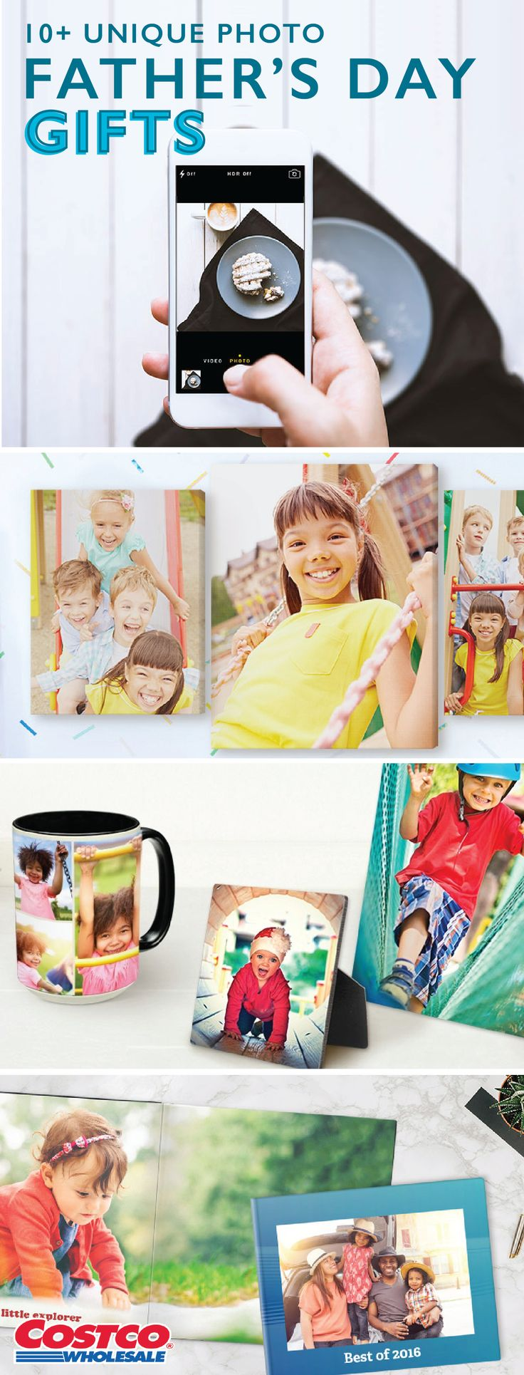 Show the dads in your life how much their kids love them by checking out these 10+ Unique Photo Father's Day Gifts from Costco. With fun and creative ways to print their favorite pictures, Costco.com can help you find a thoughtful and memorable present this year.