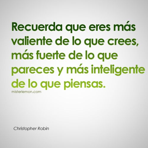 Frases célebres. Christopher Robin #frases #quotes