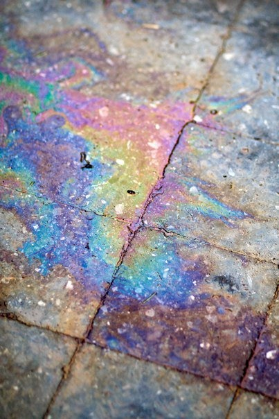 you loved finding oil slicks after the rain when you a little girl.