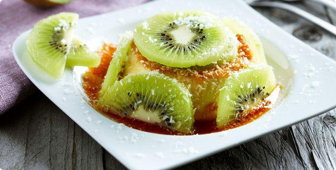 Rezept: Kokos-Flan mit Kiwi