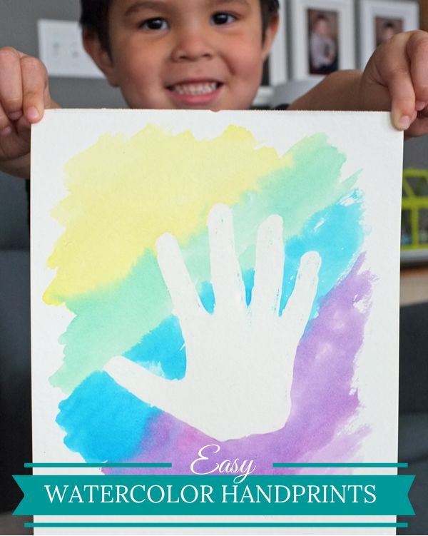 how to make handprints with paint