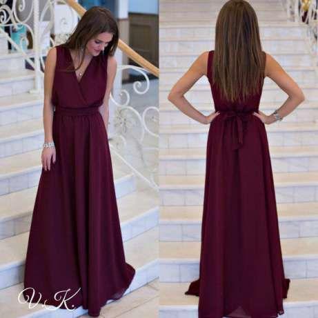 Платье выпускное цвет марсала бордовое в пол Запорожье - изображение 1