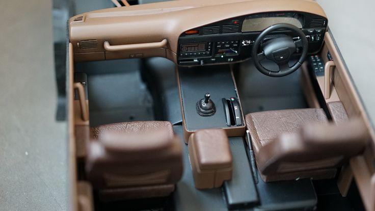 Rc Toyota Land Cruiser 80 interior  ostrich leather