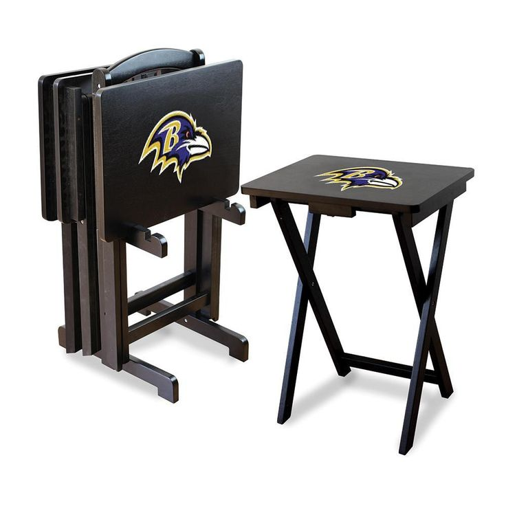 Baltimore Ravens NFL TV Tray Set with Rack